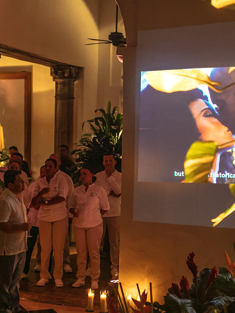 Presentation at Grand Opening Party of Amarla Boutique Hotel Cartagena