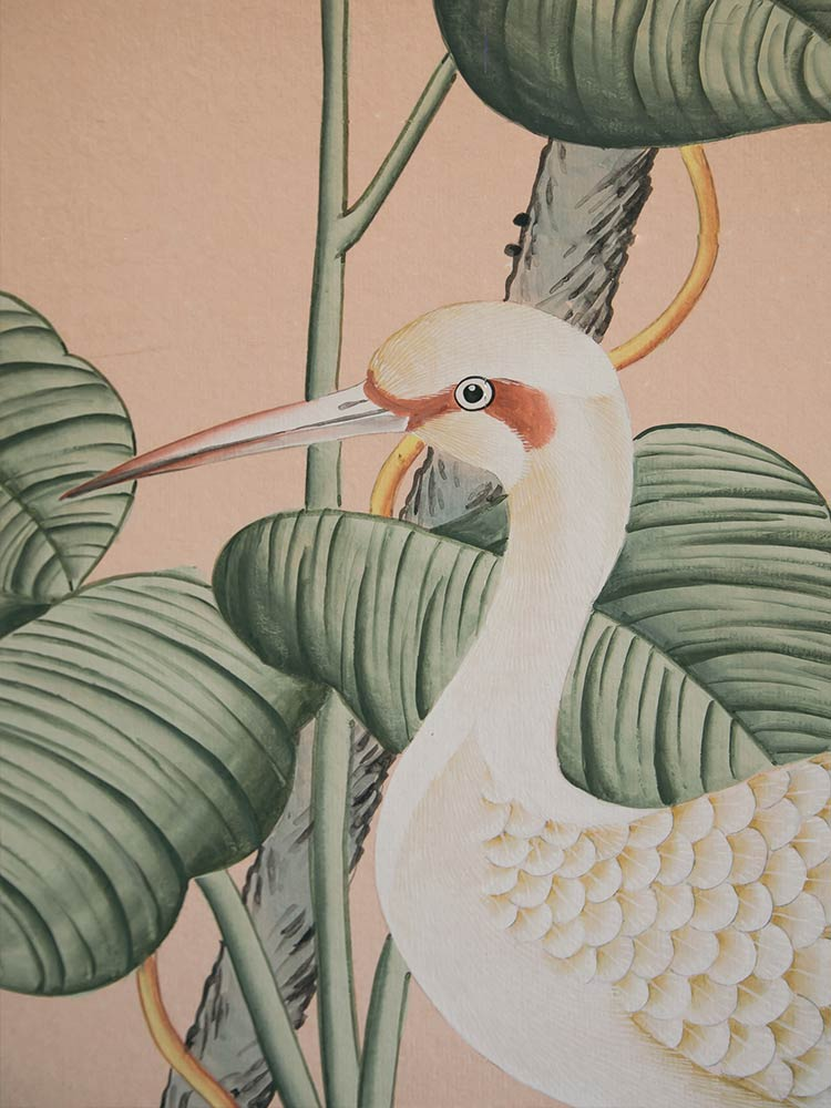 Heron cushion design at Amarla Hotel in Cartagena Colombia
