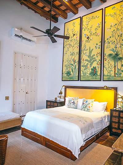 Amarla Boutique Hotel in Cartagena was once a gorgeous colonial home. It has been lovingly restored with select pieces from local artisans