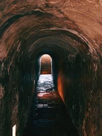 Passageway to Castillo de San Felipe de Barajas in Cartagena Walled City in Colombia
