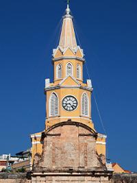 El Torre del Reloj Clock Tower in Cartagena Walled City, Colombia