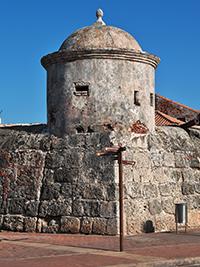 Las Murallas fort in Cartagena Walled City Colombia